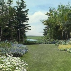 The Satterlee Garden at Great Head, MDI, was designed by Beatrix Farrand in 1916. Photo credit: Library of Congress
