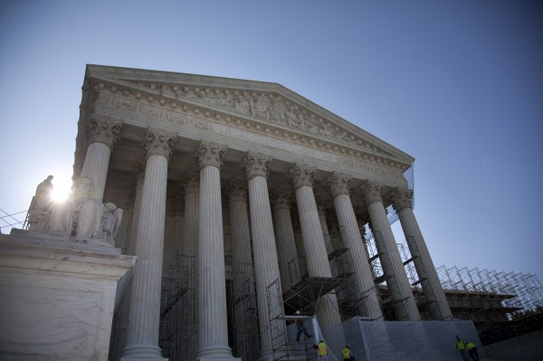 A view of the Supreme Court in Washington, Wednesday, June 27, 2012.