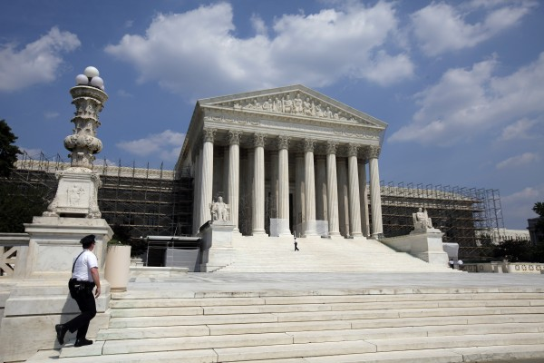 This June 20, 2012, file photo shows the U.S. Supreme Court in Washington. It's the biggest secret in a city known for not keeping them: the nine Supreme Court justices and more than three dozen other people have kept quiet for more than two months about how the high court is going to rule on the constitutionality of President Barack Obama's health care overhaul.