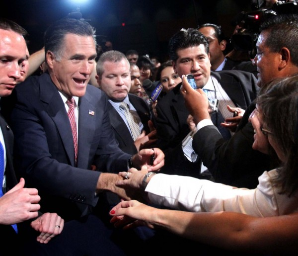 GOP presidential contender Mitt Romney greets attendees of the National Association of Latino Elected and Appointed Officials conference, Thursday, June 21, 2012, at the Contemporary Resort at Walt Disney World, in Lake Buena Vista, Florida.