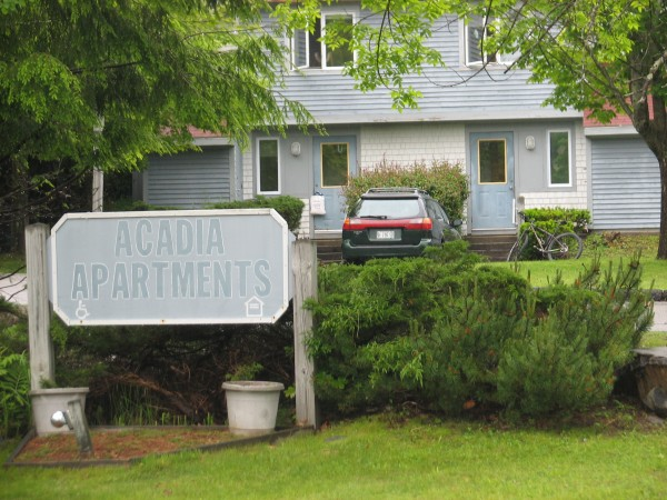 Acadia Apartments on West Street Extension in Bar Harbor was purchased in early June 2012 by resort lodging firm Ocean Properties. Residents of the subsidized apartment complex say the firm plans to use the property for employee housing and that they have not been told when they have to move out.