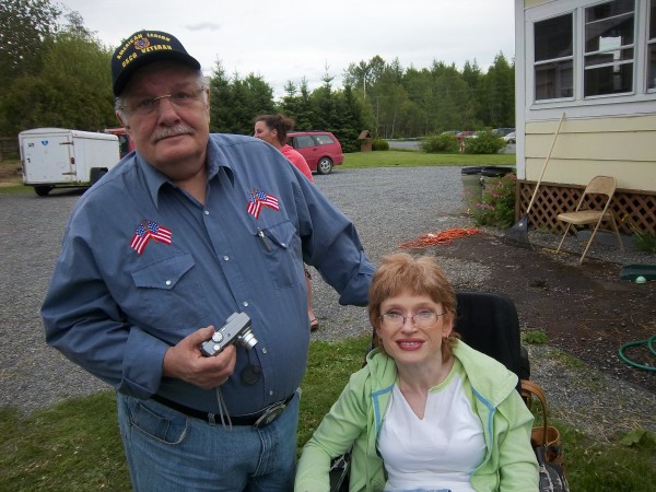 Karen Crouser and husband, Ray, traveled far to attend the Barn Dance.  Karen is the creator of the Manes and Tails Aroostook Facebook page.