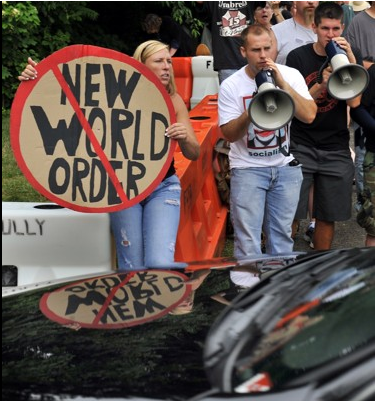 Protesters let their feelings be known at last week's Bilderberg conference.