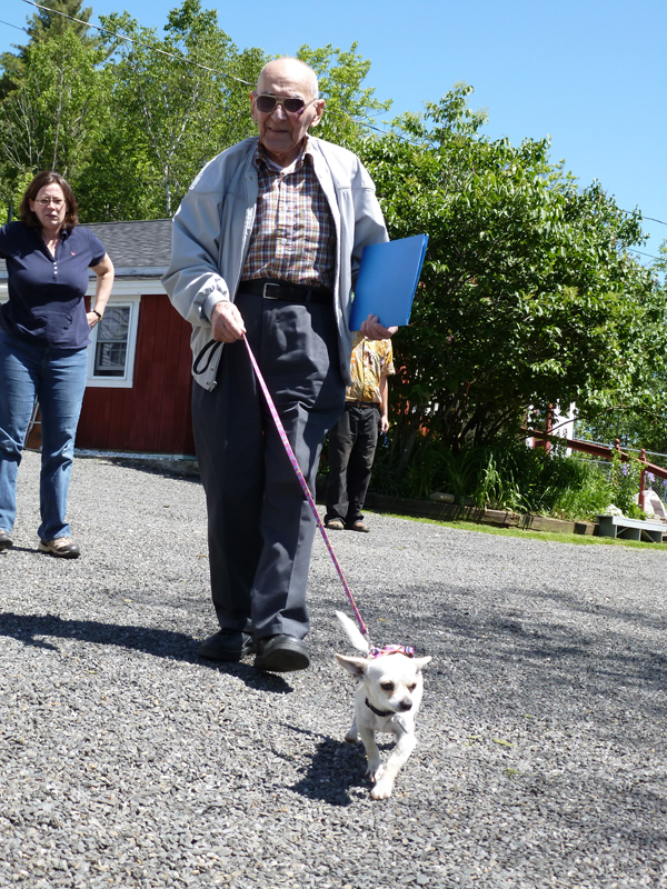 Humane Society of Knox County director Tracy Sala watched on Friday morning as Ken Smith, 86, of Rockland, walked his 3-year-old chihuahua Nancy to his car. &quotShe picked me out,&quot Smith explained, while holding the small, shaking dog in the shelter. &quotThe other 15 barked and barked and ran away, but she came up to me, real quiet.&quot