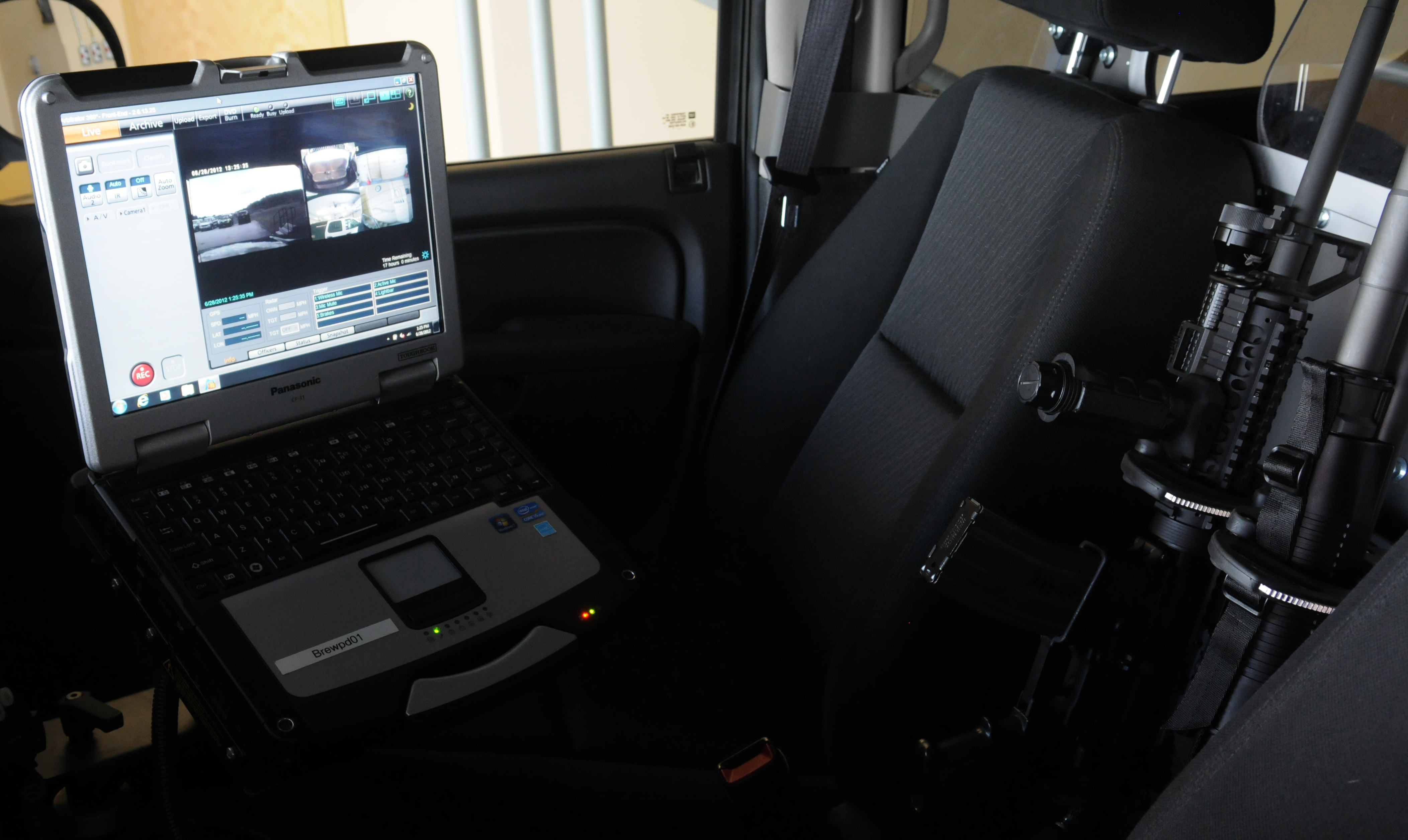 Brewer police now have a state-of-the-art video system for their patrol cars. The system automatically uploads the video to a server at the station when the officer arrives at the garage after a shift.