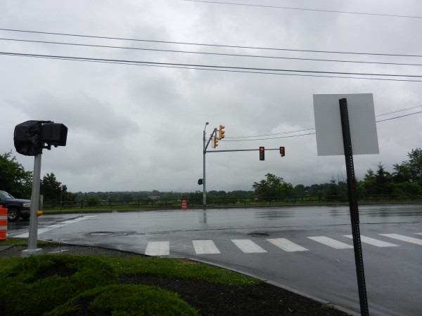 Bangor's public works department has built a new pedestrian crossing at the intersection of Main and Patten streets across Main. The crosswalk features a countdown pedestrian crossing signal, new street lights, a handicapped-accessible ramp on the curbing and a painted walk across Main Street.