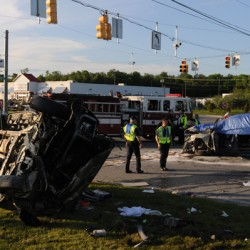 Speed likely a factor in fatal three-vehicle crash on Broadway