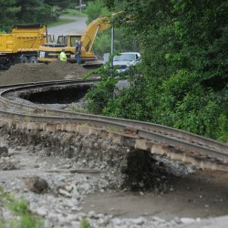 Railroad on track to reopen part of damaged line after Brownville flooding