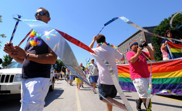 Hundreds of people marched in the second annual Pride Parade Saturday morning in Bangor. The parade was organized by Queen City Pride.