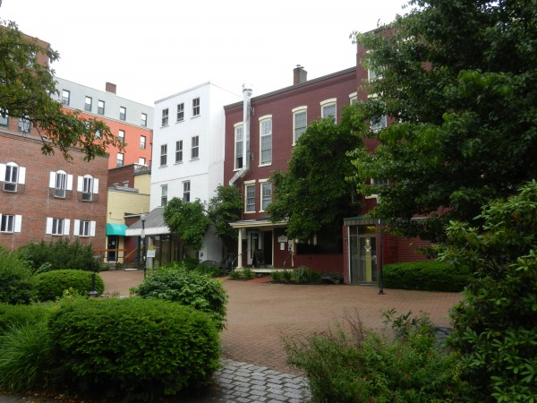 Pickering Square Park sits behind several Main Street businesses, including Nocturnem Draft Haus, whose owner Gene Beck wants to use park space to have a segregated area where patrons can eat and drink outside. The Bangor City Council revised city code to allow him to do so Monday night.