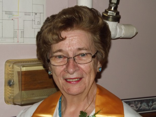 State Rep. Helen Rankin, D-Hiram, before accepting her honorary diploma from Good Will-Hinckley on Thursday, June 14, 2012.