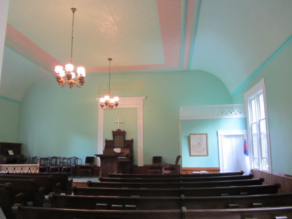 The inside of the Rockville Community Chapel.