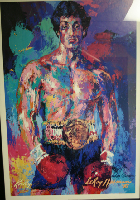 Sylvester Stallone appears as Rocky Balboa in this LeRoy Neiman painting.