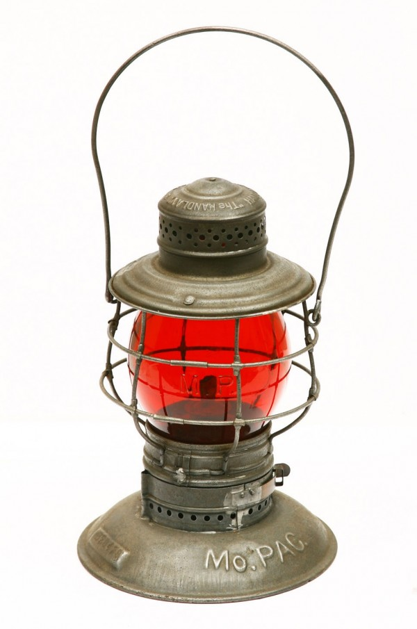 This Missouri Pacific railroad lantern sold for $275 recently at A&S Antique Auction Co. in Texas.