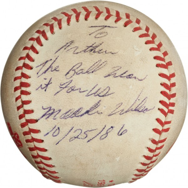 "The &quot""Buckner Ball&quot"" from the notorious 1986 World Series brought $418,250 recently in a $7 million-plus sports collectibles sale at Heritage Auctions."