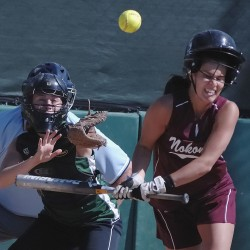 Rainbow Wahine Softball vs. UH Hilo on Maui - Umpire's Double ...