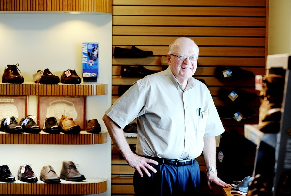 Harvey White of Lisbon Falls has been selling shoes with Lamey Wellehan for 17 years and in Maine since 1975. He is one of five certified pedorthists in the Maine company.