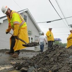 LePage seeks federal aid for road flood damage in June