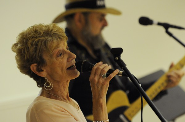 Nellie Rudder of Newport sings a 1966 country classic, &quotAlmost Persuaded,&quot as house band member Frank Dow plays guitar to back her up on Sunday, July 29, 2012, during Doug and Jeannie's Country Jam at the City Side Restaurant in Brewer.