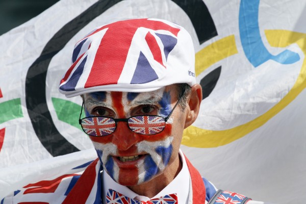 Michael Burn from Watford, England, walks around Olympic Park garbed from head to toe in the Union Jack and carrying an Olympic rings flag. &quotI'm a passionate spectator,&quot he said, and has tickets to 12 events including opening and closing ceremonies.