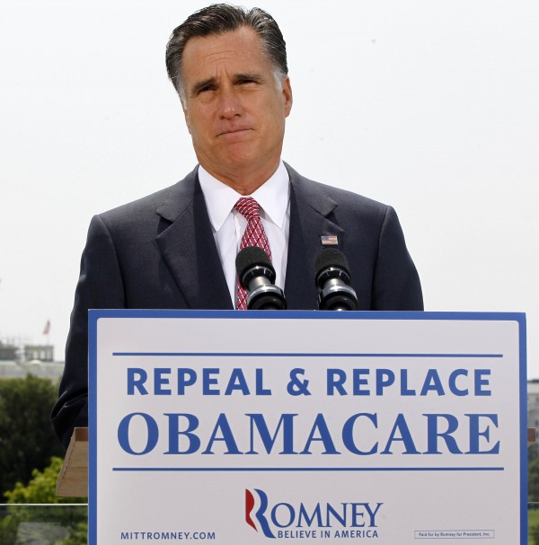Republican presidential candidate, former Massachusetts Gov. Mitt Romney, speaks about the Supreme Court's health care ruling in Washington in June 2012. Millions of uninsured Americans may have to wait until after Election Day to find out if and how they wi'll be able to get coverage through President Barack Obama''s health care overhaul because many governors from both parties said they haven''t decided how their states will proceed on two components under their control: an expansion of Medicaid, and new insurance exchanges.