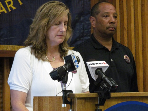 Judi and Wayne Richardson announce a $10,000 reward for information leading to the arrest and indictment of the person or persons responsible for the early 2010 death of their daughter, Darien, during a news conference at the Portland Police Department on Monday.
