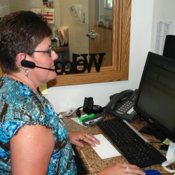 Kelly Tuttle, response center operator for TAMC LiveSAFE (formerly Lifeline) Response Service works in the new LiveSAFE operations center at TAMC