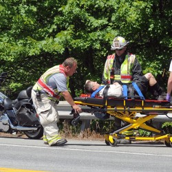 Bangor man suffers head injury in Holden motorcycle crash
