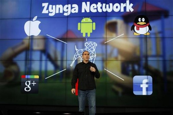 Zynga General Manager Manuel Bronstein speaks during the Zynga Unleashed event at the company's headquarters in San Francisco, California June 26, 2012.