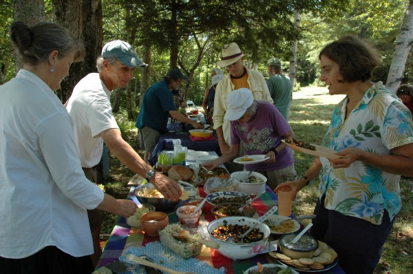 SWLA supporters enjoy the potluck picnic at the 2011 Midsummer Celebration.