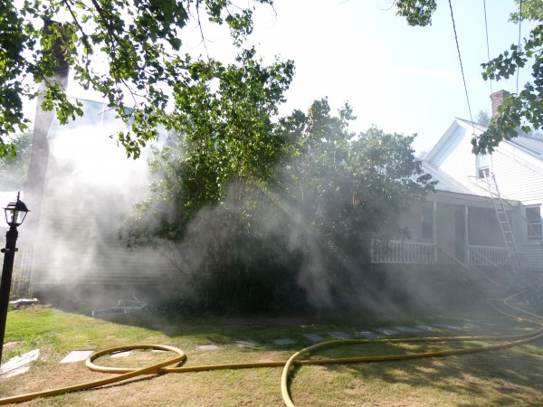 The owner of a two-story farmhouse at 246 Coombs Road in Brunswick went to the hospital on Friday, July 13, 2012, suffering from smoke inhalation.