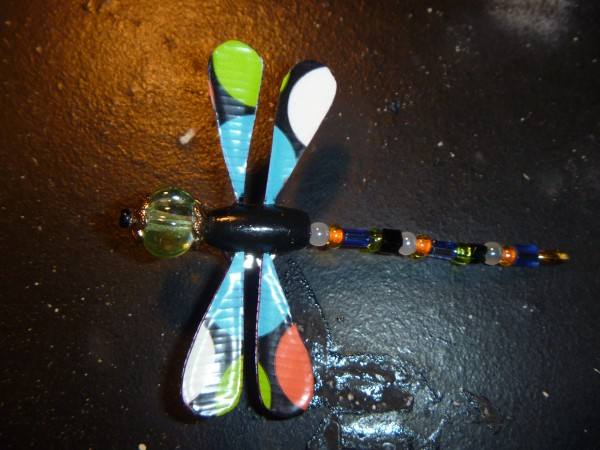 Dragonflies made by Larry Payeur of Bangor.