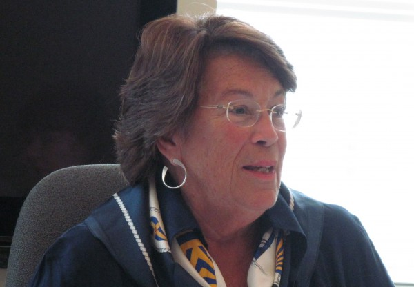 Jana Lapoint, shown here during a July 2, 2012, meeting of the Maine Charter School Commission, was elected chairwoman of the commission on July 17, 2012. Lapoint and the rest of the commission members unanimously gave conditional approval to Baxter Academy for Technology and Science to open as a charter school in Portland in the fall of 2013.