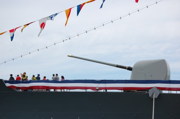 Independence Day events in Eastport included guided tours of the USS Jacinto, a 550-foot guided missile cruiser that has seen combat action in Middle East.