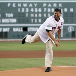 Beckett struggles in final inning; Red Sox win on Ambres homer