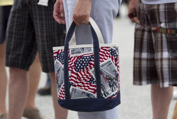 Cynthia Dill's handbag.