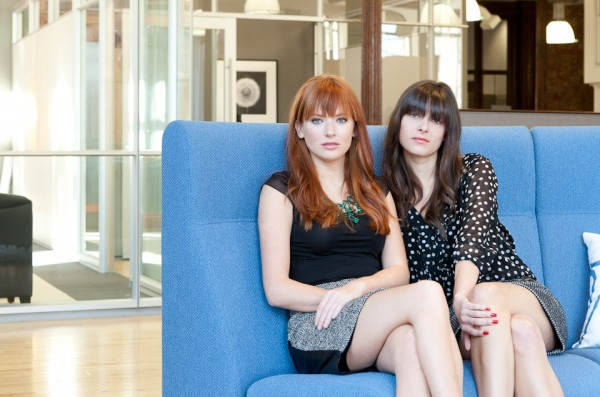 Anna Glaser (left) and Liz Smith of Portland write a blog called The Sequined Blazer.
