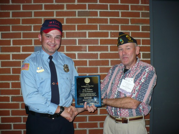Ricky Bradeen, The American Legion 2012 Firefighter of the Year