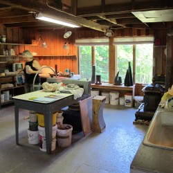 Maine sculptor in Deer Isle for 2-week artist residency, exhibition
