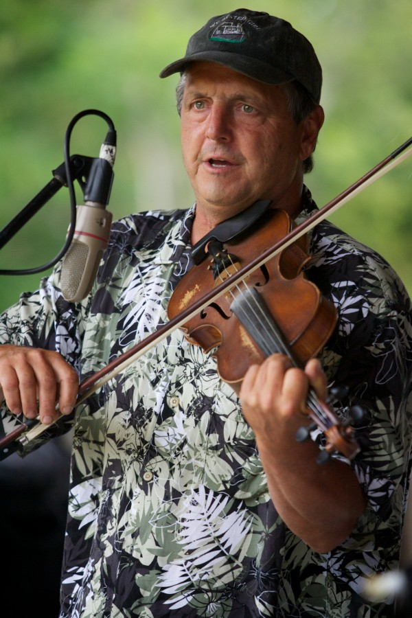 Carter Newell, father of both Helen and Maisie Newell, placed third in this year's East Benton Fiddlers Convention Sunday, July 29, 2012.