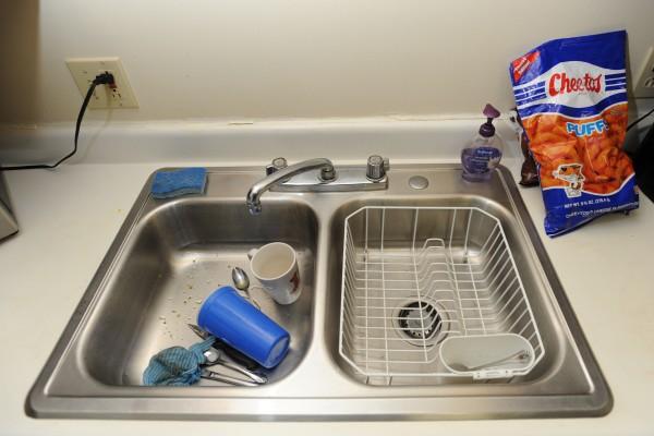 Stainless steel sink, Stillwater Avenue, Bangor. Thursday, July 12, 2102.