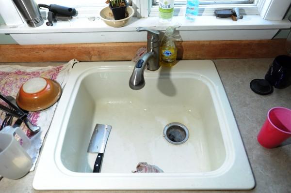 Composite sink, Webster Avenue, Bangor. Thursday, July 12, 2012.