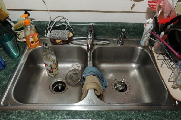Stainless steel sink, Boutelle Road, Bangor. Thursday, July 12, 2012.