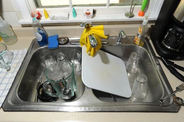 Stainless steel sink, Howard Street, Bangor. Thursday, July 12, 2012.