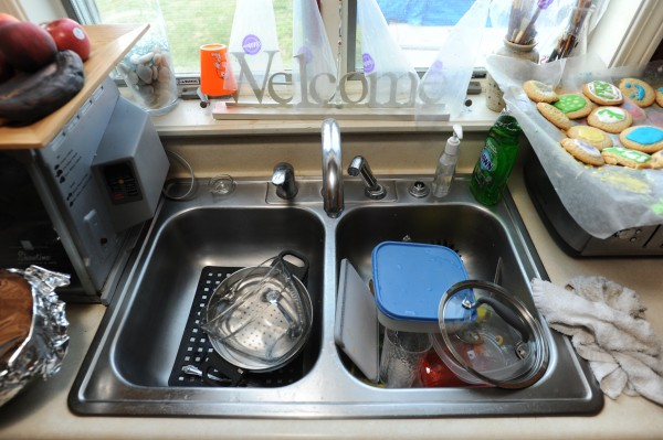Stainless steel sink, Carrie Court, Bangor. Thursday, July 12, 2012.