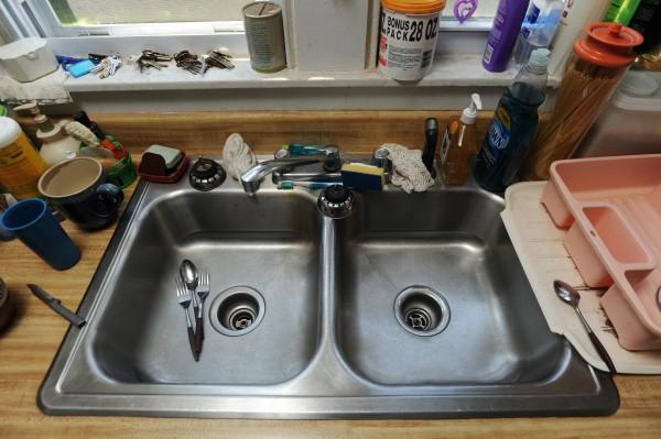 Stainless steel sink, Sidney Street, Bangor. Thursday, July 12, 2012.