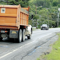 MDOT surveys Hampden road prior to reconstruction