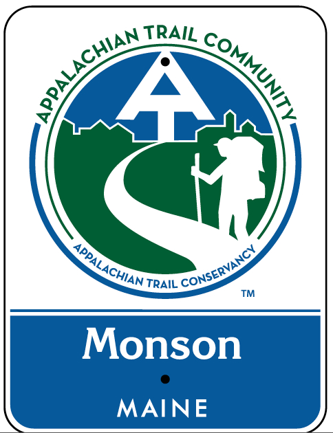The Appalachian Trail Conservancy will give two road signs with this logo to the town of Monson on July 21, 2012, to mark the town as an Appalachian Trail Community.