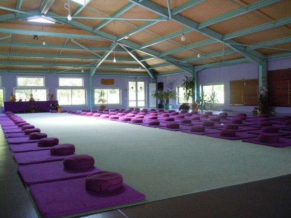 A meditation hall at the Plum Village Monastery in the south of France, where Orono yoga instructor Sandy Cyrus attended a mindfulness retreat in June 2012.