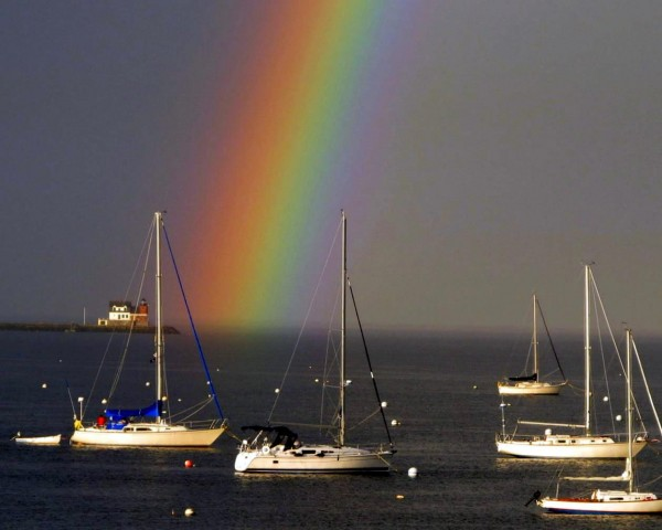 Rainbow over Rockland Harbor after Thunderstorm - Andrew Carpenter